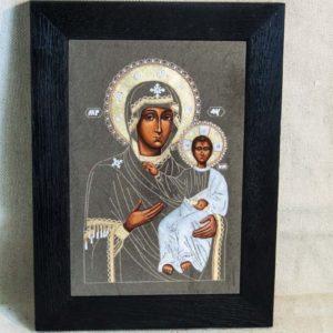 Икона Смоленской Божией Матери № 1-02 подарочная из мрамора, камня, изображение, фото 2
