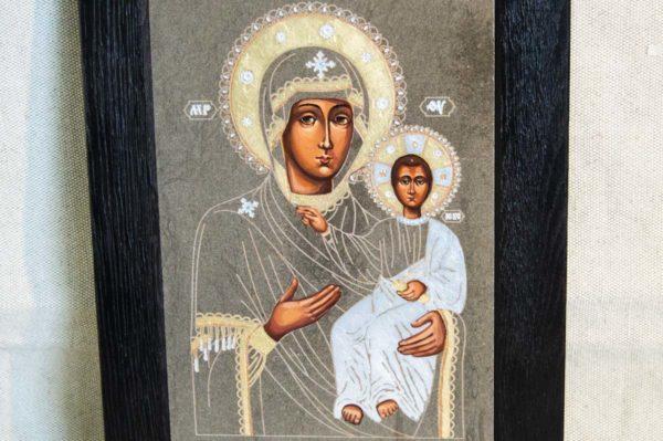 Икона Смоленской Божией Матери № 1-02 подарочная из мрамора, камня, изображение, фото 4