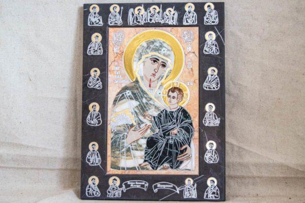 Икона Иверской Божией Матери № 1-25-13 из мрамора, камня, от Гливи, фото 17