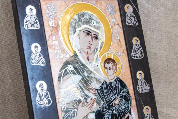 Икона Иверской Божией Матери № 1-25-13 из мрамора, камня, от Гливи, фото 16