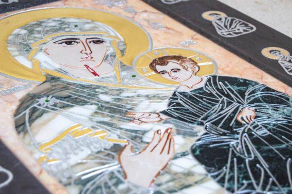 Икона Иверской Божией Матери № 1-25-13 из мрамора, камня, от Гливи, фото 13