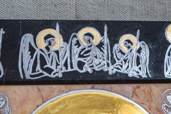 Икона Иверской Божией Матери № 1-25-13 из мрамора, камня, от Гливи, фото 8
