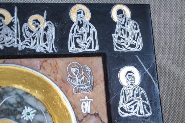 Икона Иверской Божией Матери № 1-25-13 из мрамора, камня, от Гливи, фото 6