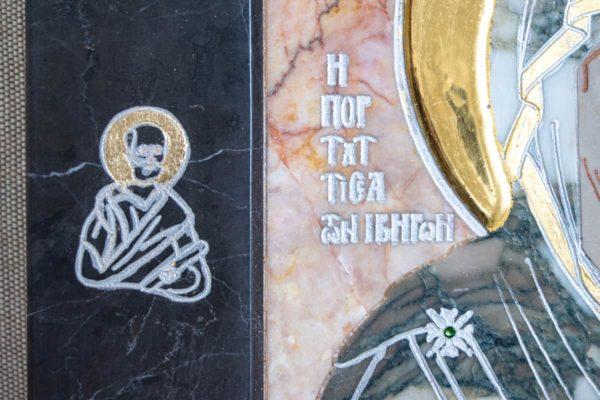 Икона Иверской Божией Матери № 1-25-13 из мрамора, камня, от Гливи, фото 5