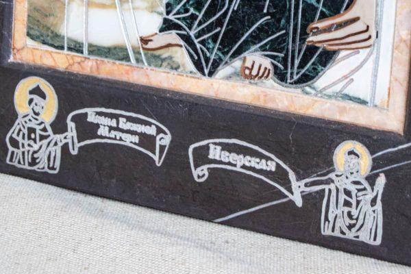 Икона Иверской Божией Матери № 1-25-13 из мрамора, камня, от Гливи, фото 3