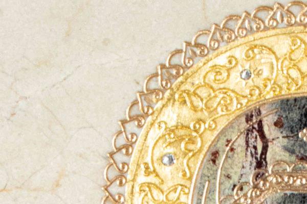 Икона Смоленской Божией Матери № 1-12-4 подарочная из мрамора, камня, изображение, фото 8