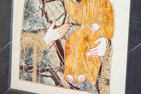 Икона Смоленской Божией Матери № 1-12-4 подарочная из мрамора, камня, изображение, фото 9