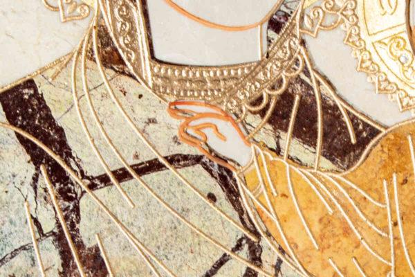 Икона Смоленской Божией Матери № 1-12-4 подарочная из мрамора, камня, изображение, фото 10