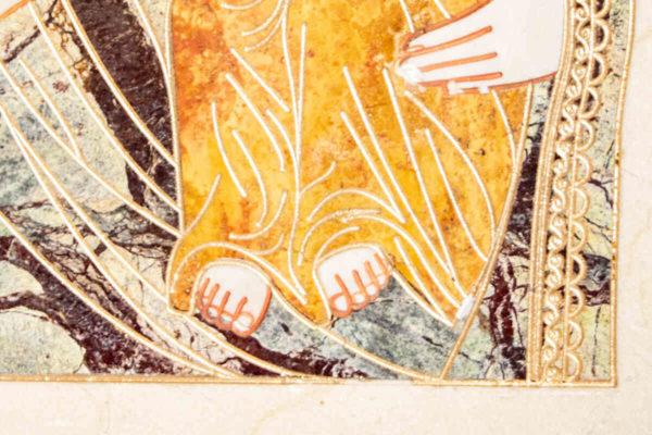 Икона Смоленской Божией Матери № 1-12-4 подарочная из мрамора, камня, изображение, фото 11