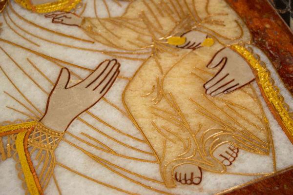 Икона Смоленской Божией Матери № 1-12-10 подарочная из мрамора, камня, изображение, фото 7