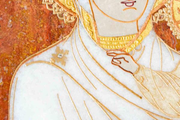 Икона Смоленской Божией Матери № 1-12-10 подарочная из мрамора, камня, изображение, фото 8