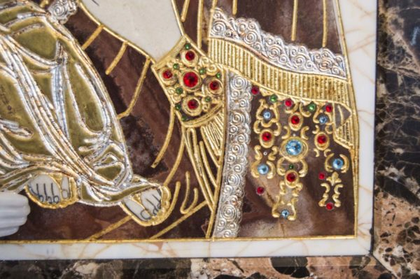 Икона Божией Матери Троеручица № 2-12-2 из мрамора, камня, изображение, фото 10