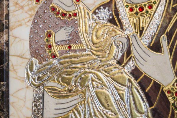 Икона Божией Матери Троеручица № 2-12-2 из мрамора, камня, изображение, фото 11