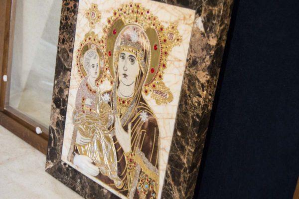Икона Божией Матери Троеручица № 2-12-2 из мрамора, камня, изображение, фото 12
