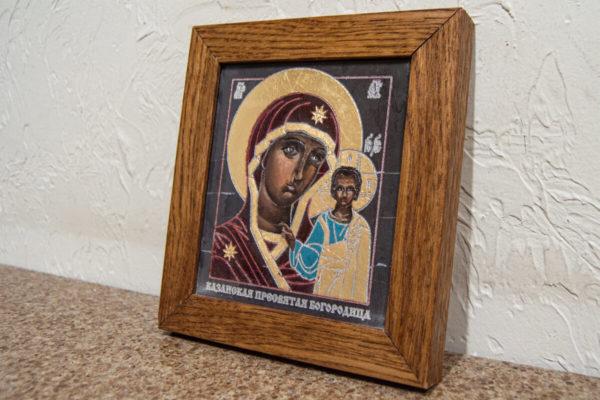 Икона Казанской Божией Матери № 1-12 подарочная из мрамора, камня, от Гливи, фото 3