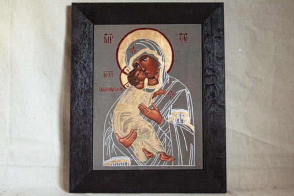 Икона Владимирской Божией Матери № 1-7 из мрамора, камня, от Гливи, фото 1