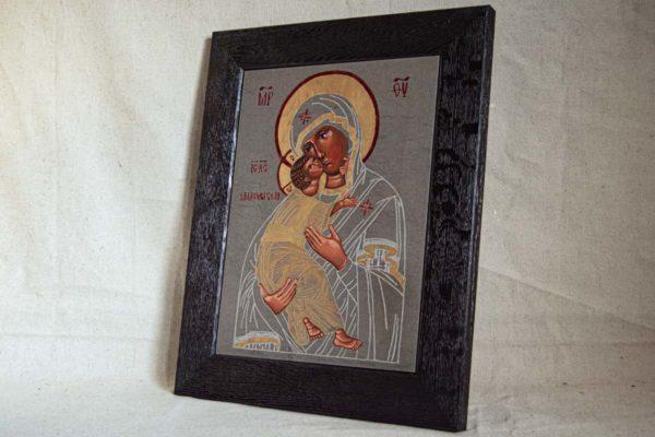 Икона Владимирской Божией Матери № 1-7 из мрамора, камня, от Гливи, фото 2