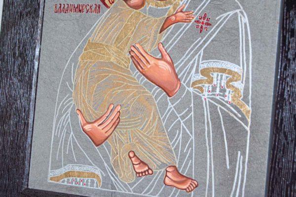 Икона Владимирской Божией Матери № 1-7 из мрамора, камня, от Гливи, фото 4