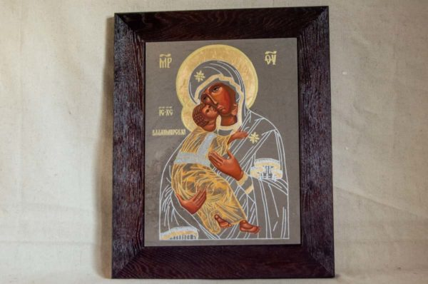 Икона Владимирской Божией Матери № 1-8 из мрамора, камня, от Гливи, фото 1