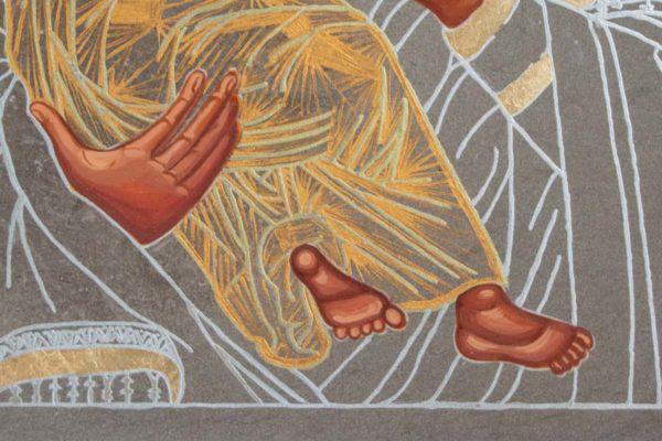 Икона Владимирской Божией Матери № 1-8 из мрамора, камня, от Гливи, фото 2