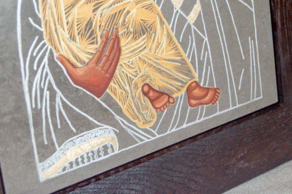 Икона Владимирской Божией Матери № 1-8 из мрамора, камня, от Гливи, фото 4