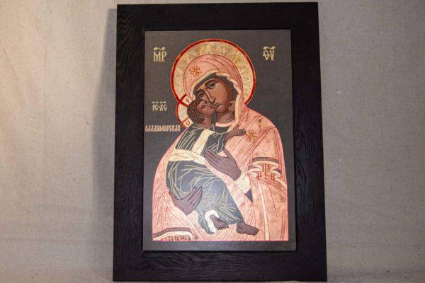 Икона Владимирской Божией Матери № 1-9 из мрамора, камня, от Гливи, фото 1