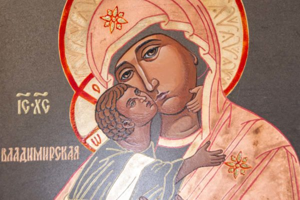Икона Владимирской Божией Матери № 1-9 из мрамора, камня, от Гливи, фото 2