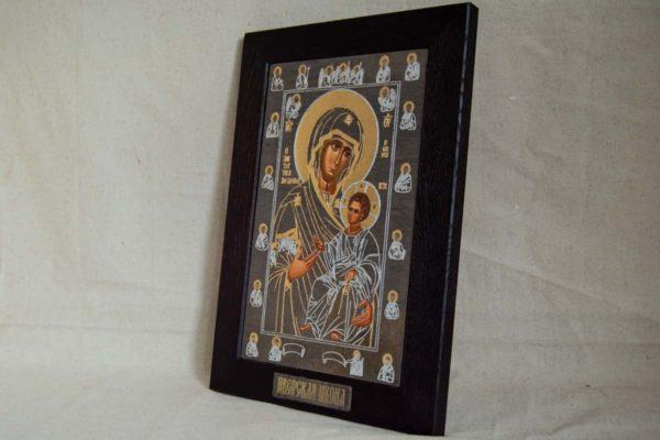 Икона Иверской Божией Матери № 1-5 из мрамора, камня, от Гливи, фото 1