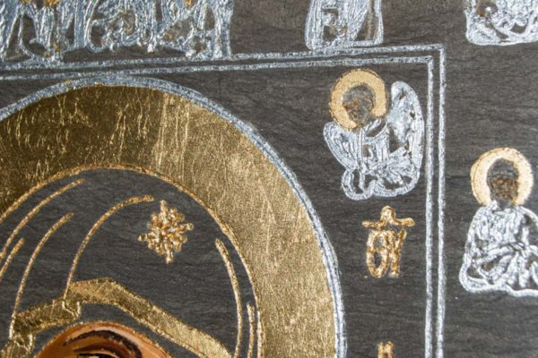 Икона Иверской Божией Матери № 1-5 из мрамора, камня, от Гливи, фото 3