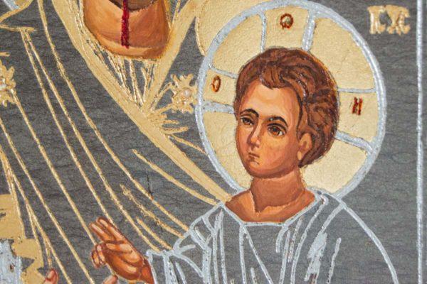 Икона Иверской Божией Матери № 1-5 из мрамора, камня, от Гливи, фото 4