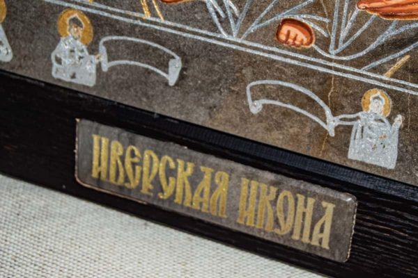 Икона Иверской Божией Матери № 1-5 из мрамора, камня, от Гливи, фото 5