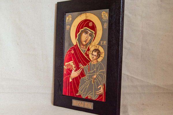 Икона Иверской Божией Матери № 1-7 из мрамора, камня, от Гливи, фото 5