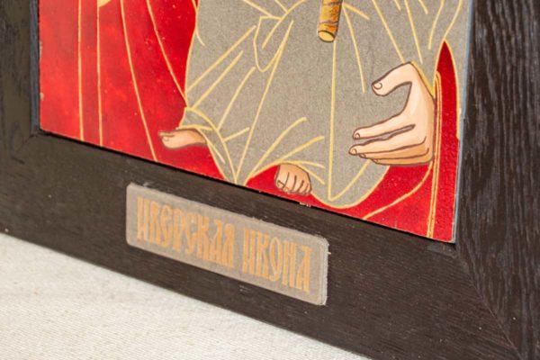 Икона Иверской Божией Матери № 1-7 из мрамора, камня, от Гливи, фото 4