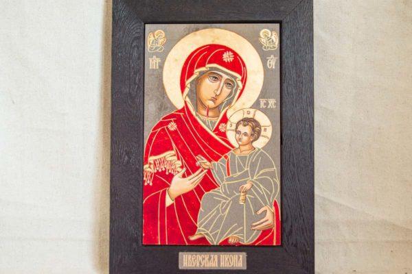 Икона Иверской Божией Матери № 1-7 из мрамора, камня, от Гливи, фото 3