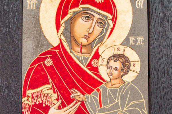 Икона Иверской Божией Матери № 1-7 из мрамора, камня, от Гливи, фото 2