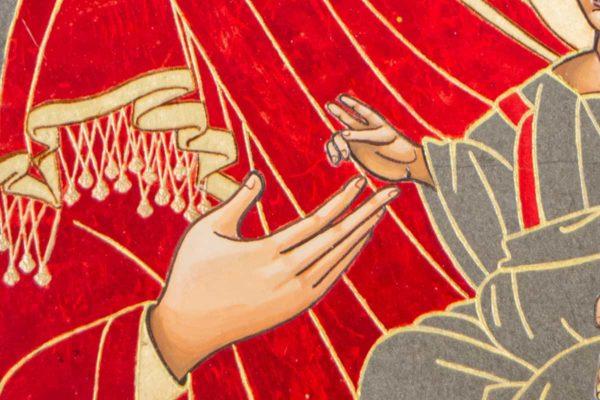 Икона Иверской Божией Матери № 1-7 из мрамора, камня, от Гливи, фото 1