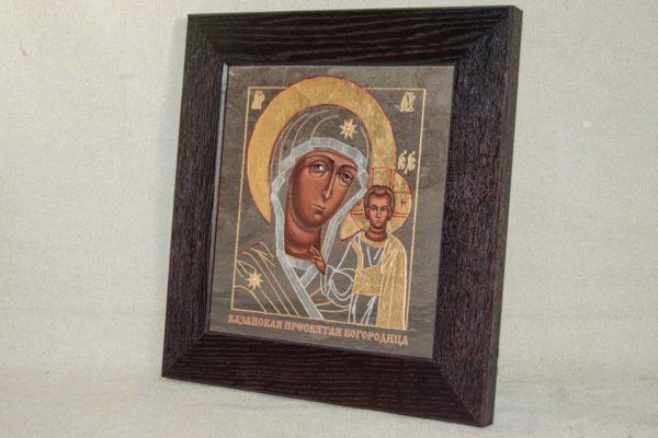 Икона Казанской Божией Матери № 1-17 подарочная из мрамора, камня, от Гливи, фото 2