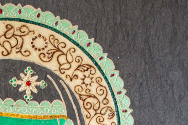 Икона Смоленской Божией Матери № 1-03 подарочная из мрамора, камня, изображение, фото 3
