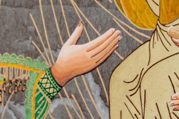 Икона Смоленской Божией Матери № 1-03 подарочная из мрамора, камня, изображение, фото 4