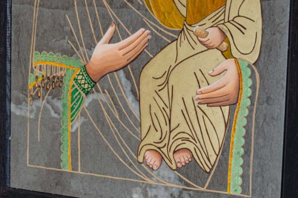 Икона Смоленской Божией Матери № 1-03 подарочная из мрамора, камня, изображение, фото 5