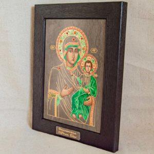 Икона Смоленской Божией Матери № 1-04 подарочная из мрамора, камня, изображение, фото 1