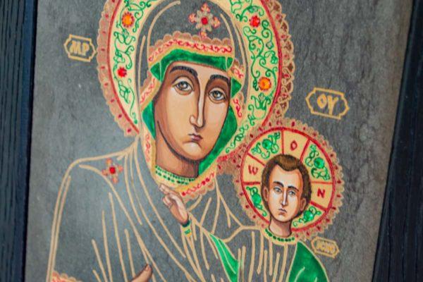 Икона Смоленской Божией Матери № 1-04 подарочная из мрамора, камня, изображение, фото 2