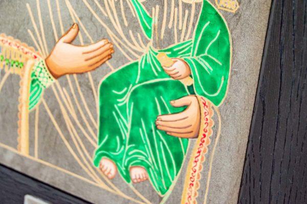 Икона Смоленской Божией Матери № 1-04 подарочная из мрамора, камня, изображение, фото 3