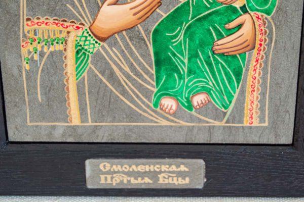 Икона Смоленской Божией Матери № 1-04 подарочная из мрамора, камня, изображение, фото 4