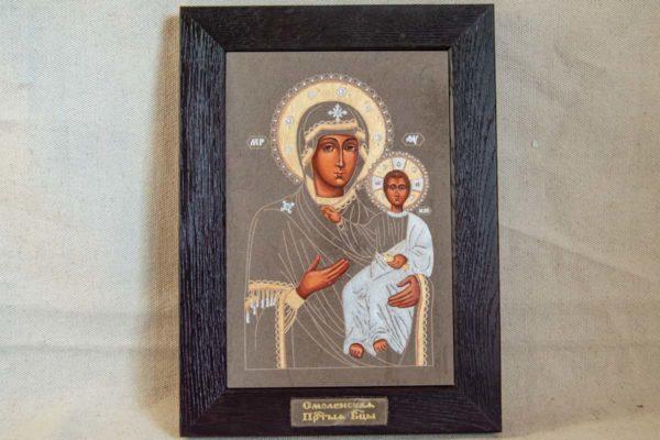 Икона Смоленской Божией Матери № 1-05 подарочная из мрамора, камня, изображение, фото 1
