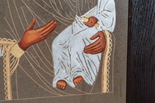 Икона Смоленской Божией Матери № 1-05 подарочная из мрамора, камня, изображение, фото 2
