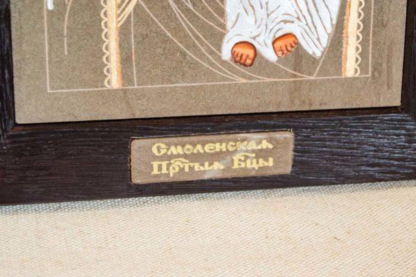 Икона Смоленской Божией Матери № 1-05 подарочная из мрамора, камня, изображение, фото 3