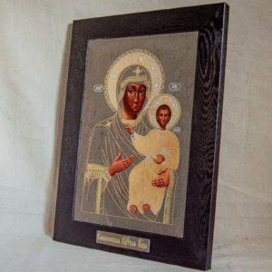 Икона Смоленской Божией Матери № 1-06 подарочная из мрамора, камня, изображение, фото 1