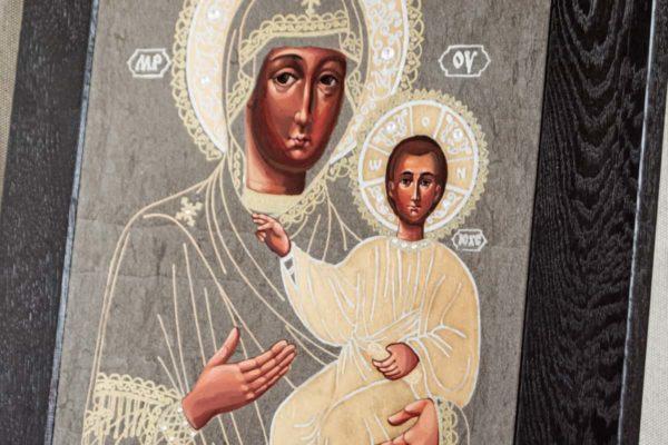 Икона Смоленской Божией Матери № 1-06 подарочная из мрамора, камня, изображение, фото 2
