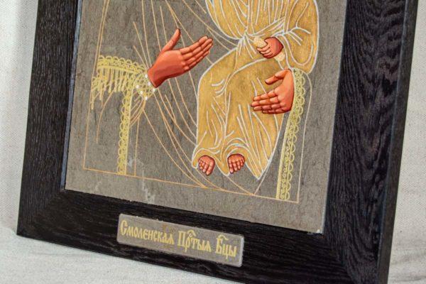 Икона Смоленской Божией Матери № 1-06 подарочная из мрамора, камня, изображение, фото 3